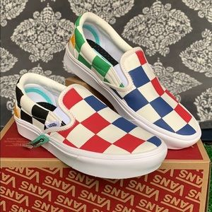 VANS COMFYCUSH SLIP ON HALF BIG CHECKER MLT CLR WM
